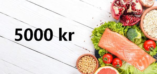 5000 kr presentkort på mat