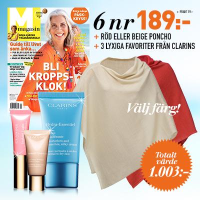 poncho på köpet, tidningserbjudande M-magasin