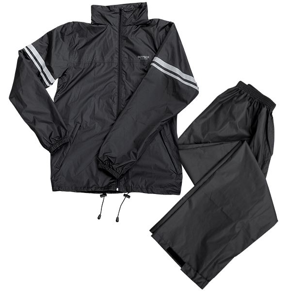 Regnställ Outpack, jacka och byxor